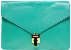 ASOS Leather Portfolio Clutch