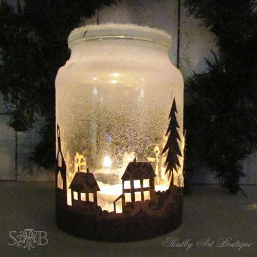 Illuminated Snowy Scene