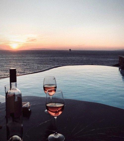 water, sea, horizon, sunrise, sky,