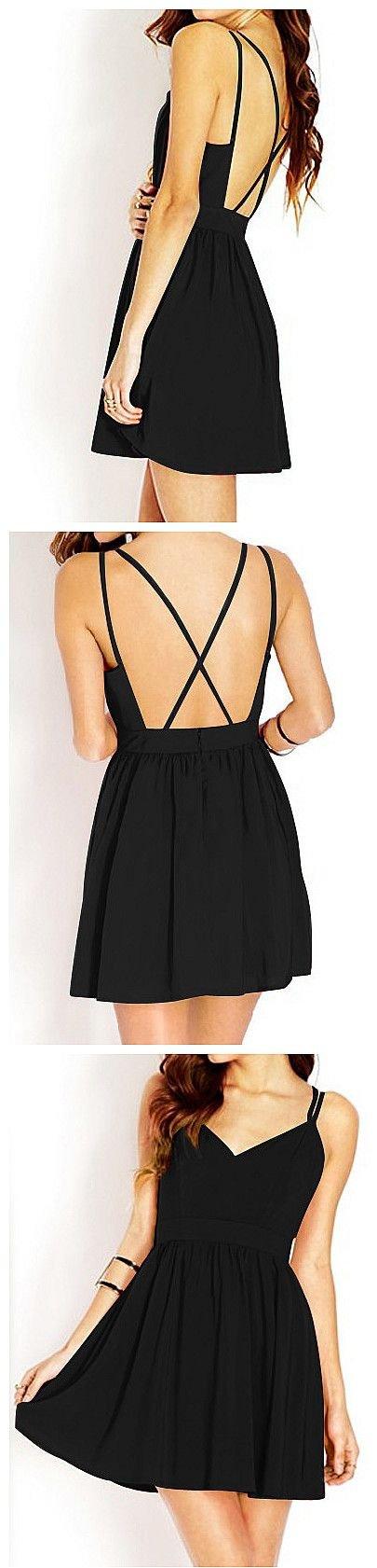 Crisscross Little Black Dress