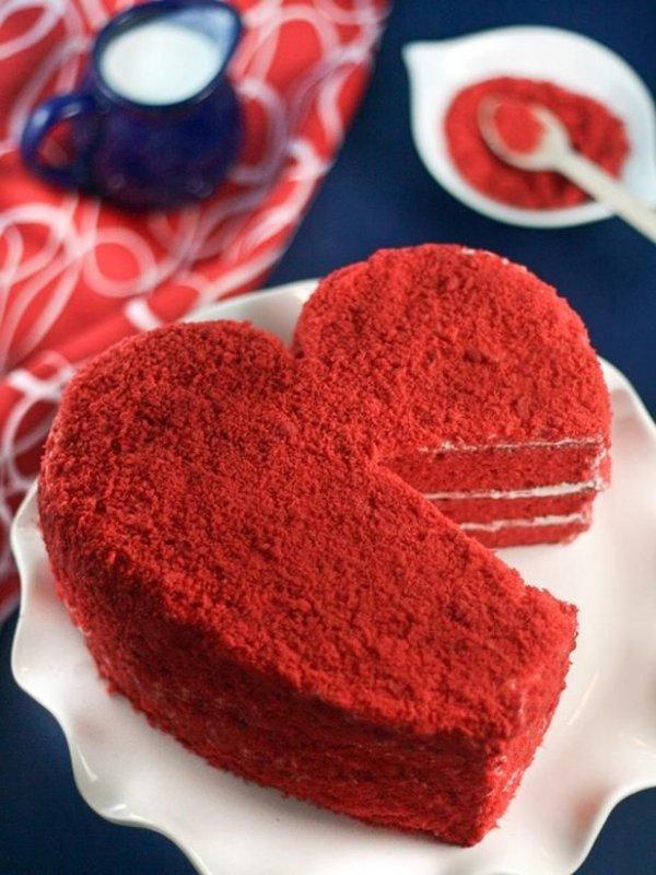 red, food, dessert, heart, petal,