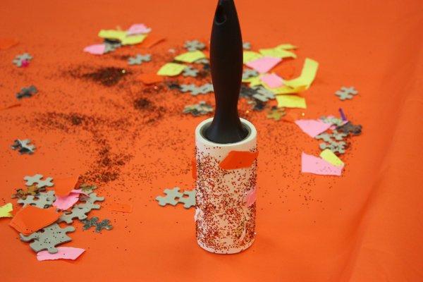 Lint Roller + Glitter