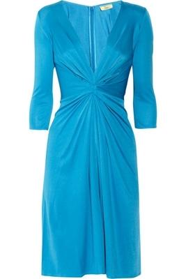 Issa Gathered Silk-Jersey Dress
