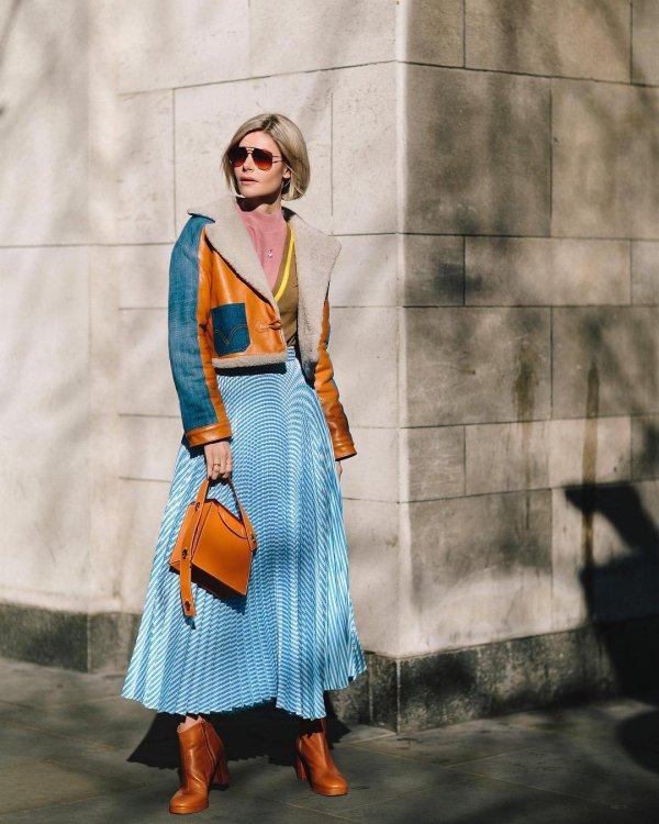 Clothing, Street fashion, Orange, Blue, Fashion,