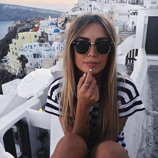 Santorini, hair, photograph, person, clothing,
