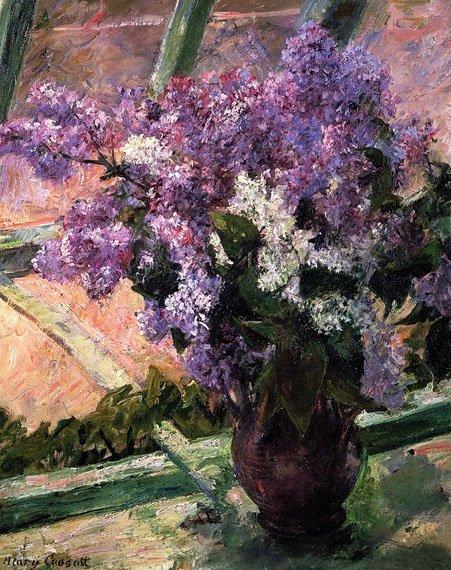 Lilacs in a Window - Cassatt