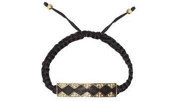 Leather Diamondhead Macramé Bracelet