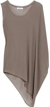 Helmut Lang Asymmetric Silk-Crepe Top