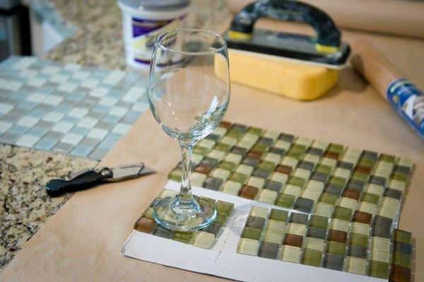 Glass Tile Coasters