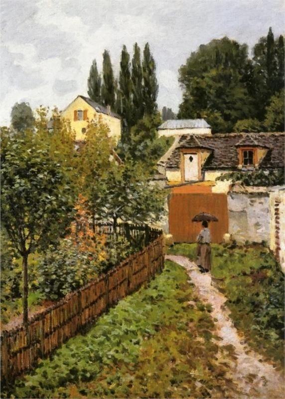 Garden Path in Louveciennes -Sisley