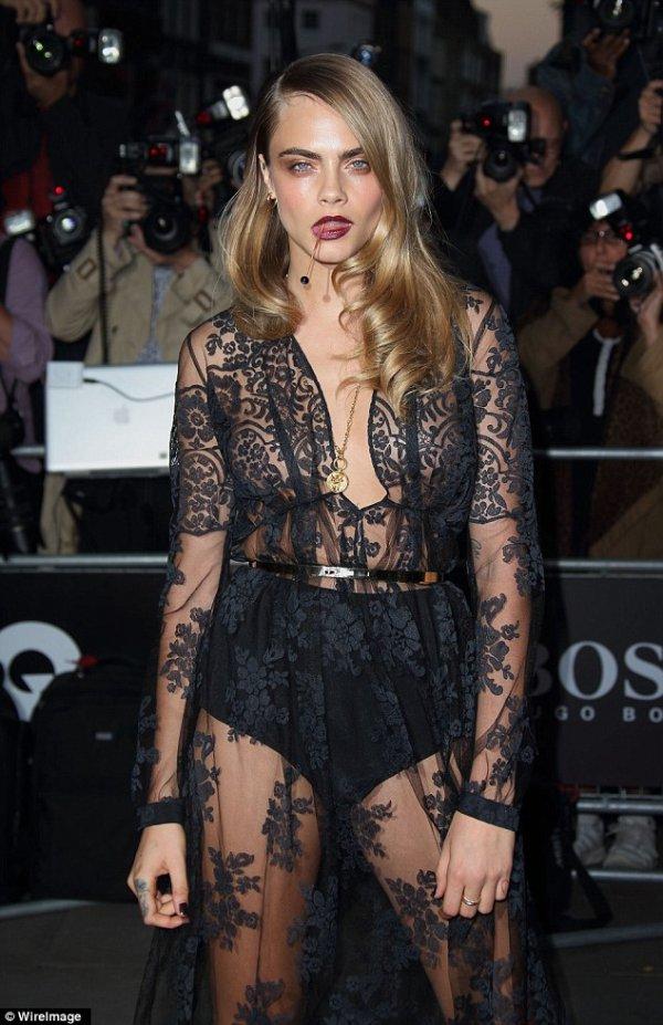 Cara Delevingne at the 2014 GQ Men of the Year Awards