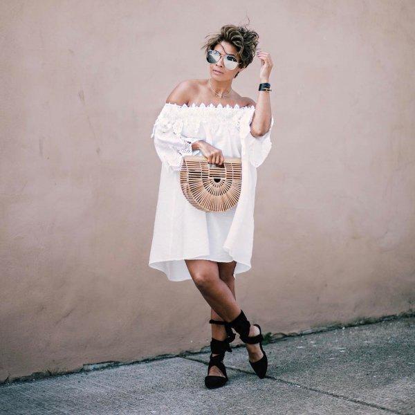 white, clothing, dress, woman, lady,