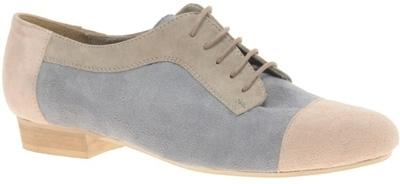 ASOS Mind Suede Colour Blocked Lace up Flat Shoe