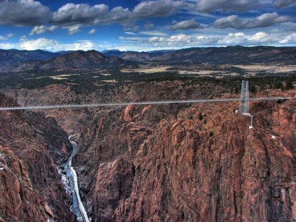 Royal Gorge Bridge Bungee Jump in Canon City, Colorado, USA