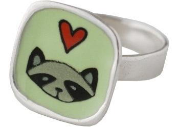 Raccoon Love Ring