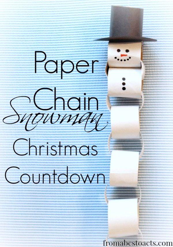 Paper Chain Snowman