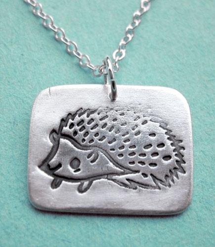 Susie Ghahremani Silver Hedgehog Necklace