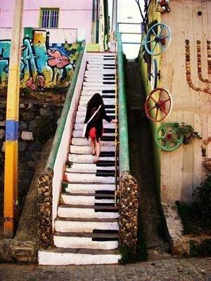 Piano Key Staircase