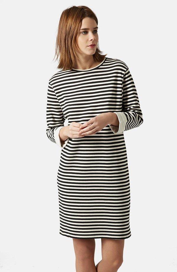 Women's Topshop Stripe Sweater Dress,