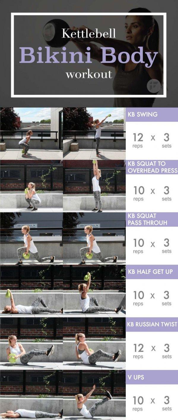 Kettlebell Bikini Body Workout - 26 Kettlebell Exercises To Tone-1071
