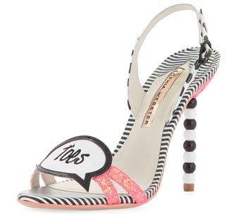 Sophia Webster Twinkle Toes Glitter Sandal