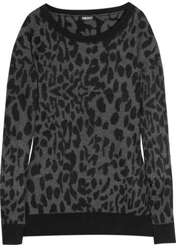 DKNY Animal Print Sweater