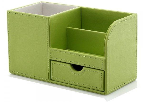 Leather Multi-function Desk Stationery Organizer