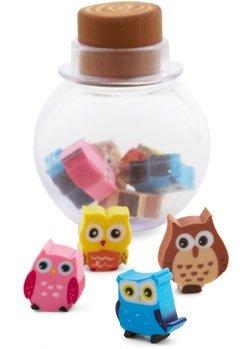 Owl New Ideas Eraser Set