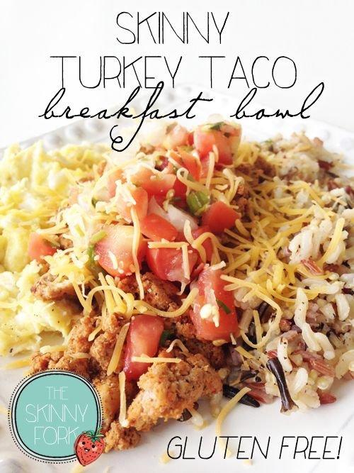 Skinny Turkey Taco Breakfast Bowl