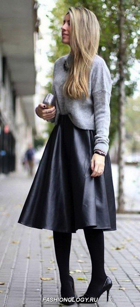 Classy Midi Skirt + Knit Top Combo