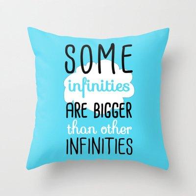 Some Infinities Throw Pillow