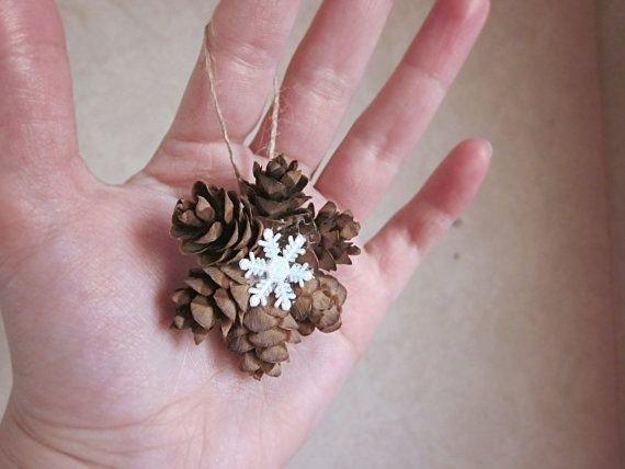 Mini Pine Cone Wreath Ornament