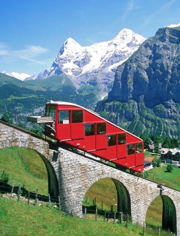 Ride the Alpine Railways in Switzerland