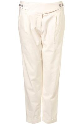 Topshop Ecru Tapered Trousers