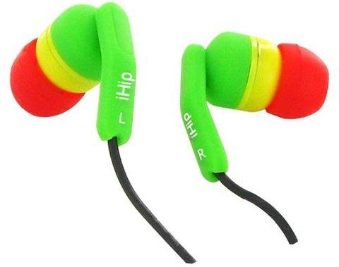 IHip Rasta Noise Isolating Earbuds