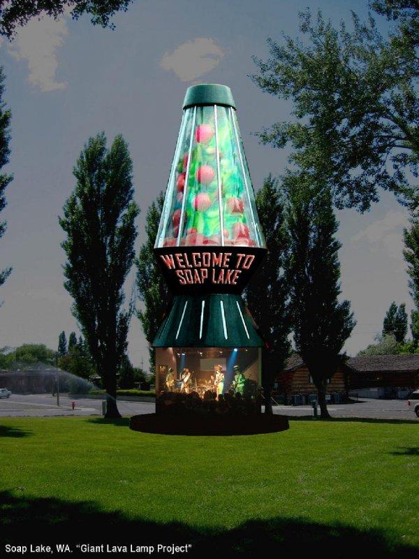 The World's Largest Lava Lamp, Soap Lake, Washington