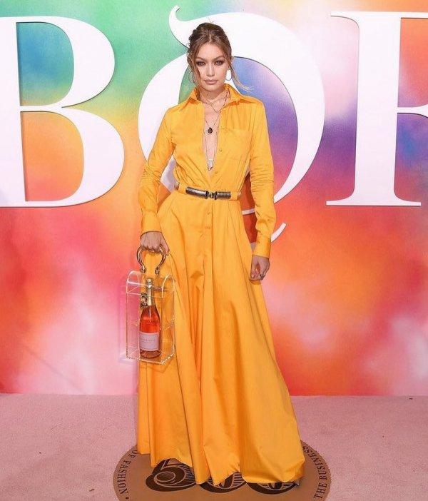 Clothing, Yellow, Orange, Dress, Fashion model,