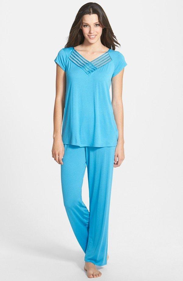 Lovely Lattice Pajamas by Midnight by Carole Hochman