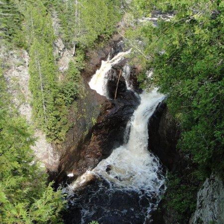 waterfall, wilderness, body of water, tree, geological phenomenon,
