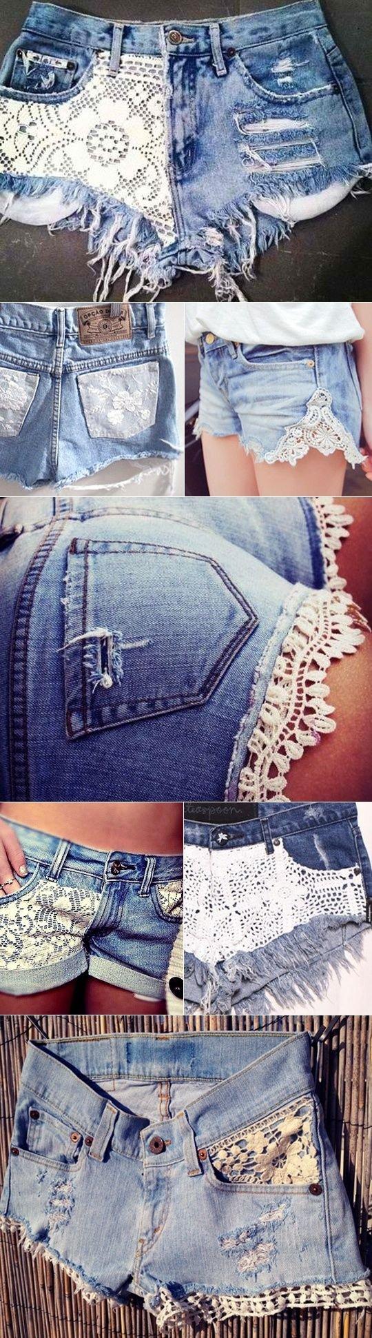 DIy Crochet Cuffed Shorts