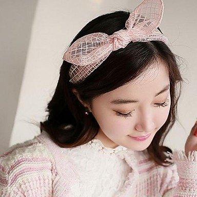 Lureme Fashion Net Yarn Bowknot Rabbit Ears Headband
