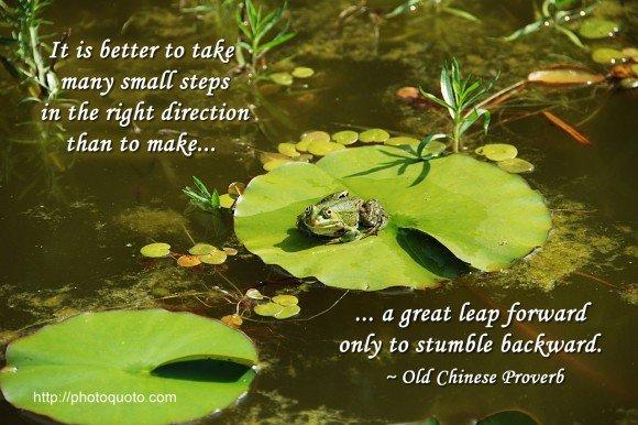 Many Small Steps