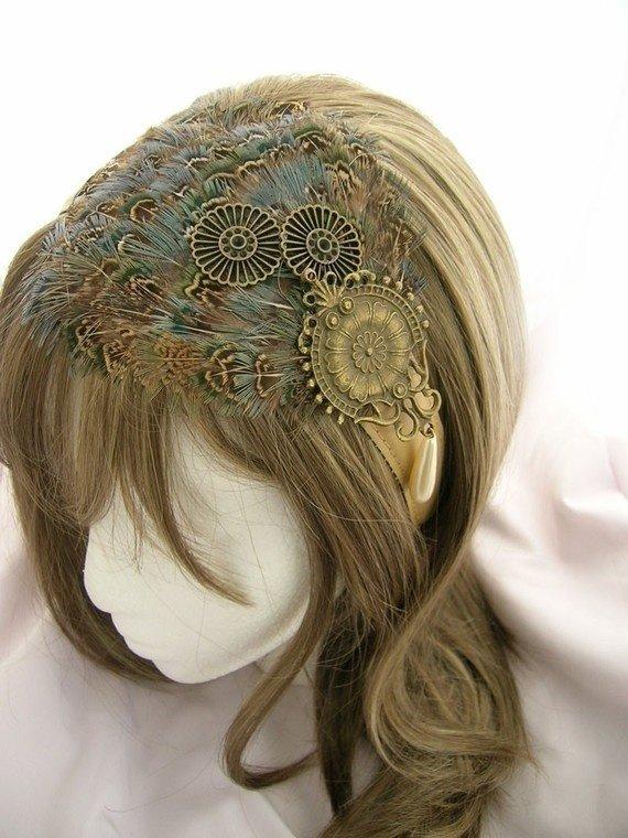 Steampunk Feather Headpiece