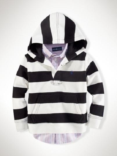 Striped Hoodie: Ralph Lauren Designer Clothes for Kids...