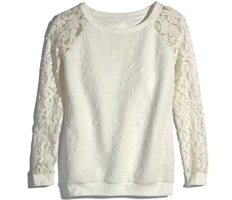 MARSHALLS White Textured Sweatshirt