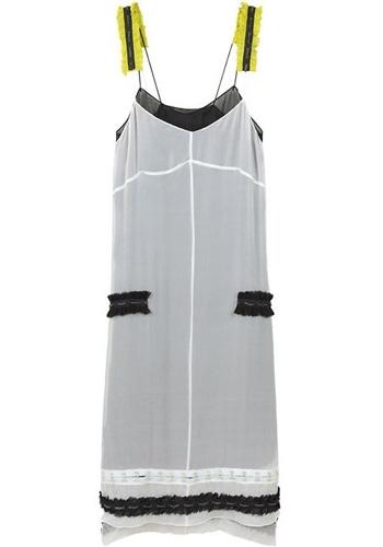 Proenza Schouler Slip Dress with Chain Appliqués