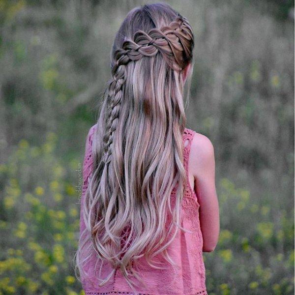 hair, clothing, pink, hairstyle, long hair,