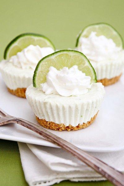 No-Bake Key Lime Cheesecakes