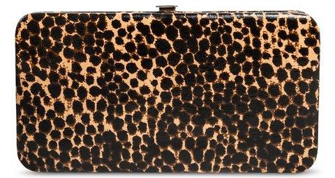 Leopard Print Clasp Wallet