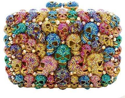 Swarovski Crystal Skull Clutch